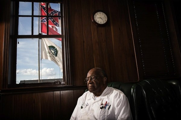 Mississippi State Senator David Jordan photographed in Greenwood City Hall on June 18, 2014. (Edmund D. Fountain, special to ProPublica)