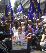Nurses, caregivers hold protest for better jobs, care