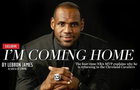 Former Miami Heat star LeBron James is returning to the Cleveland Cavaliers. Four years after his bitter break-up with the ...