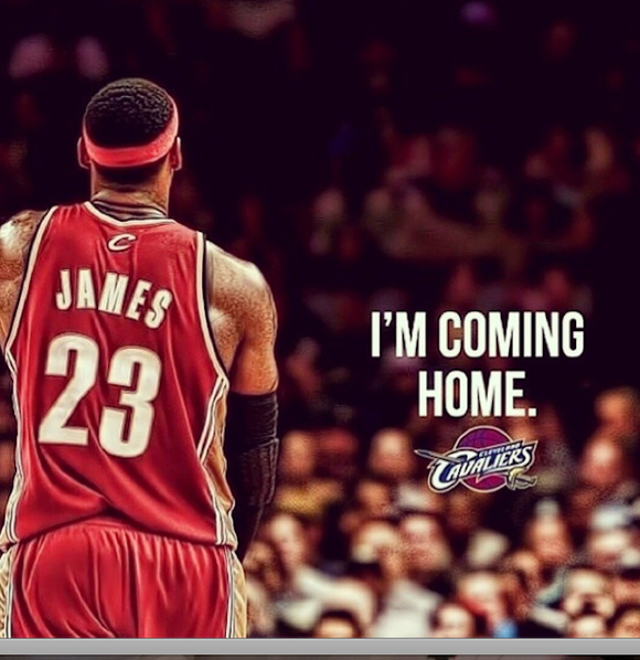 After four years away, it looks like King James will take his throne back to Cleveland. A photo on LeBron ...