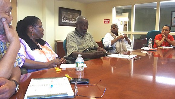 A group of activists who worked to secure equitable education resources in Roxbury in the 1960s meets to discuss the ...