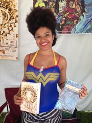 Author Ytasha Womack showcased her books during the 40th Annual Arts and Crafts Festival at the DuSable Museum of African American History this past weekend.