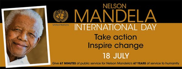 """Mr Mandela has spent 67 years making the world a better place. We're asking you for 67 minutes."""
