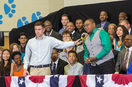 "The town hall for the White House's ""My Brother's Keeper"" initiative was held at Walker Jones Education Center on Monday, July 21."