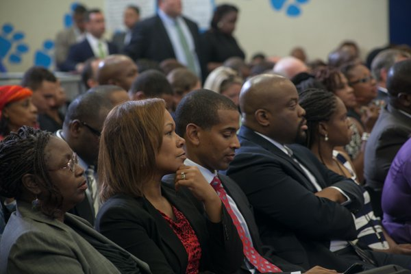 """The town hall for the White House's """"My Brother's Keeper"""" initiative was held at Walker Jones Education Center on Monday, July 21."""