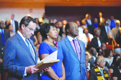 Hundreds of people, including the mayor of the District and two D.C. Council members, commemorated the life and accomplishments of ...