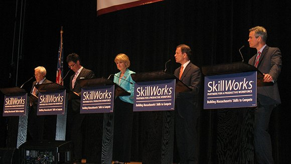 Workforce development was the topic at a gubernatorial debate held at Roxbury Community College, but immigration issues emerged as an ...