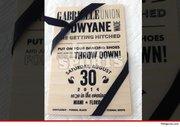 Gabrielle Union and Dwyane Wade's wedding invitation