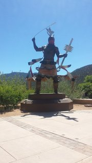 Sculpture on museum tour in Santa Fe, New Mexico