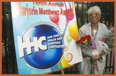 Priscilla Maddox (Renaissance Health Care Network auxiliary and this year's Marjorie Matthews Community Advocate honoree), also former employee Sydenham Hospital