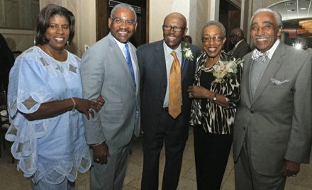Revered elder statesman Ed Towns celebrates his 80th birthday, along with friends like Reps. Charles Rangel and Greg Meeks. Retired Rep. Ed Towns celebrated his 80th birthday last week with his family. (Lem Peterkin photo)