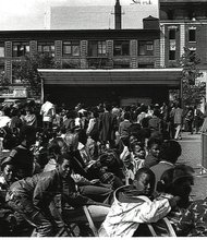 Jazzmobile Stage on Uptown Saturday Night in the plaza of the Adam Clayton Powell Jr. State Office Building (Mid 1980's)