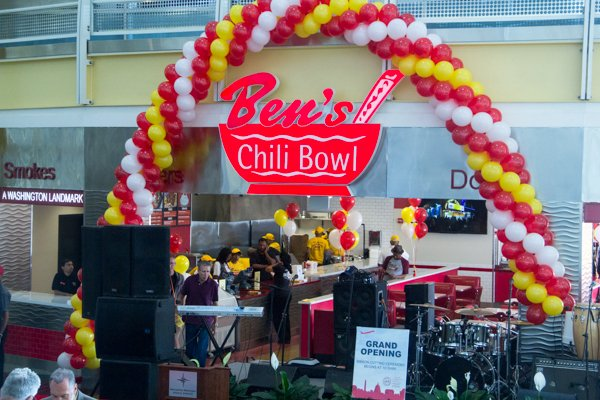 Ben's Chili Bowl's opening of the newest location at National Airport in Arlington, Va., on Wed., July 23.