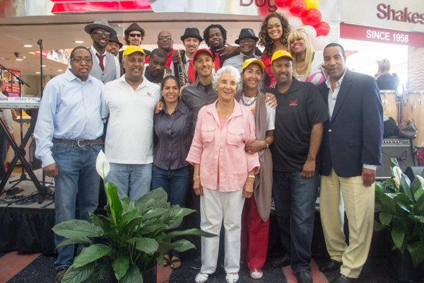 Ben's Chili Bowl family members and friends at the opening of the restaurant's new location at National Airport in Arlington, Va., on Wed., July 23.