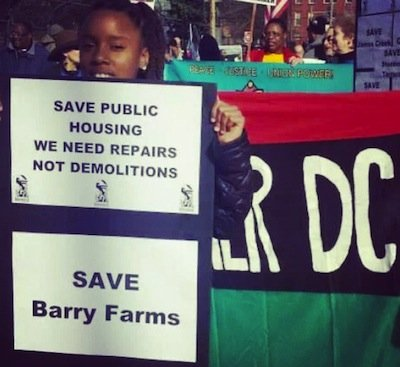 Residents of the Barry Farm public housing units and Park Chester apartments in Southeast D.C. will converge on the zoning ...
