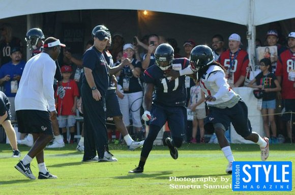 It was another exciting day at the Methodist Training Center as the Texans football team prepared for day two of ...