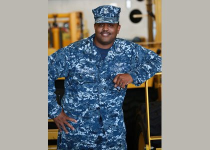 Petty Officer 1st Class Apollo Morse, an aviation boatswain's mate from Baltimore and 1997 graduate of Mergenthaler High School, is ...