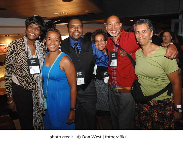 The Boston Globe and the Boston Association of Black Journalists hosted a welcoming party for the members of the National Association of Black Journalists attending their national conference in Boston. Music, mixing,mingling, networking and partying was the order of the evening that brought together some 700 people at Fenway Park enjoying New England's own lobster rolls. Photo credit: © DON WEST