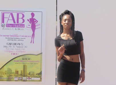 Jazmine Blackwell models at Fab@TheHarbor