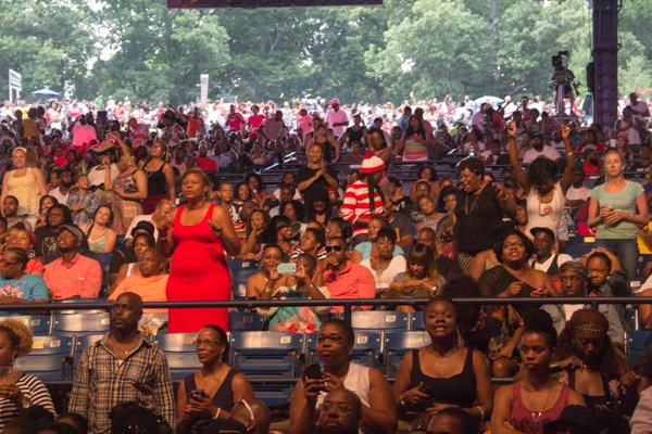 Crowd enjoying the concert at 2014 Spirit Festival held at Merriweather Post Pavilion in Columbia, Md., on Sat., August 2.