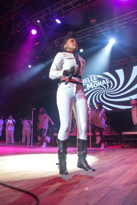 Janelle Monae performing at the 2014 Spirit Festival in Columbia, Md., on Sat., August 2