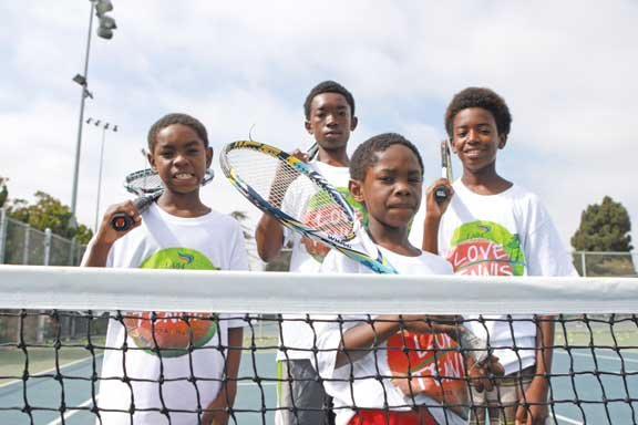 Two years ago, Richard and Fred Williams noticed four brothers hanging around the tennis shop at Rancho Cienega Sports Complex. ...