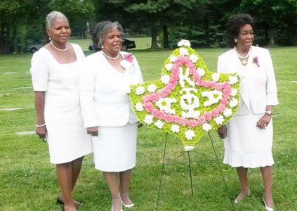 Baltimore Metropolitan area Alpha Kappa Alpha Sorority (AKA), Incorporated members, including Epsilon Omega President E. Francine Stokes-McElven, the 27th North ...