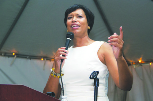 Hundreds of people showed up at the birthday party for D.C. Council member Muriel Bowser on Thursday at the home ...