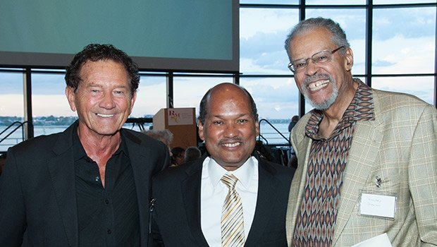 Parker House Hotel Owner Jerry Dunfey, Councilor Charles Yancey and Willard Johnson, Photo Credit Tony Irving