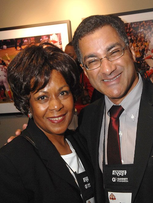 Robin Washington (r) and friend. (Photo by Don West.)