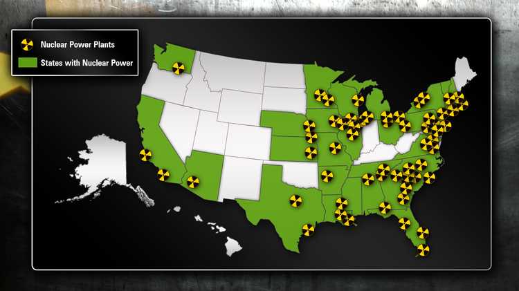 US Nuclear Power Plants Our Weekly Black News And - Map of us nuclear sites