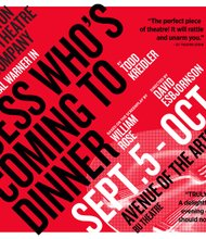Huntington Theatre Company's production of Guess Who's Coming to Dinner featuring Malcolm-Jamal Warner. September 5 to October 5, 2014, BU Theatre, Avenue of the Arts.