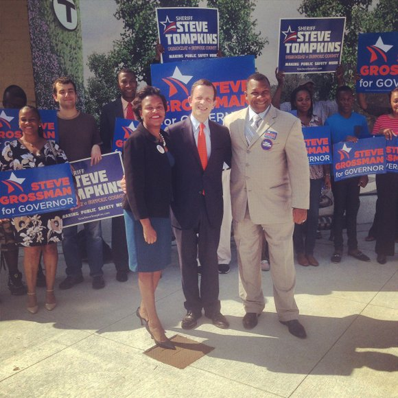 State Senator Linda Dorcena Forry and Suffolk County Sheriff Steve Tompkins are throwing their weight behind state Treasurer Steve Grossman ...