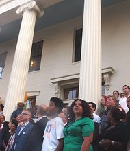 A crowd of more than 200 people turned out for the ribbon cutting at the newly restored Alvah Kittredge House in Roxbury. (Banner photo)