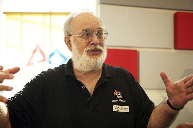 Don Brobst, senior mentor for the McKinley Tech students who built the robot presented at the grand opening of R.I.S.E Demonstration Center on the St. Elizabeths East Campus August 13.