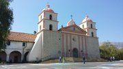 "Old Mission Santa Barbara was the 10th of the California missions founded by the Spanish Franciscans and is known today as the ""Queen of the Missions."""