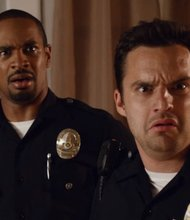 "Jake Johnson and Damon Wayans Jr. in ""Let's Be Cops"""