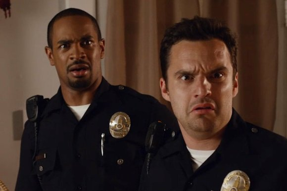"""Let's Be Cops"" is being positioned as the ""ultimate buddy cop movie""—except that the leads, Justin Miller (Damon Wayans Jr.) ..."
