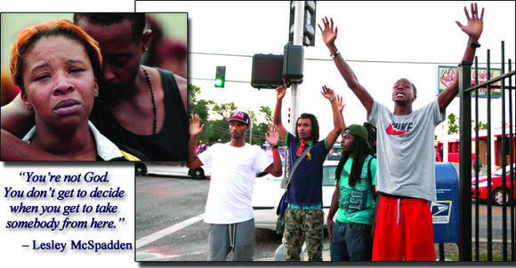 An unarmed 18-year-old African American teen was shot and killed by police in Ferguson, a 70 percent Black suburb a ...