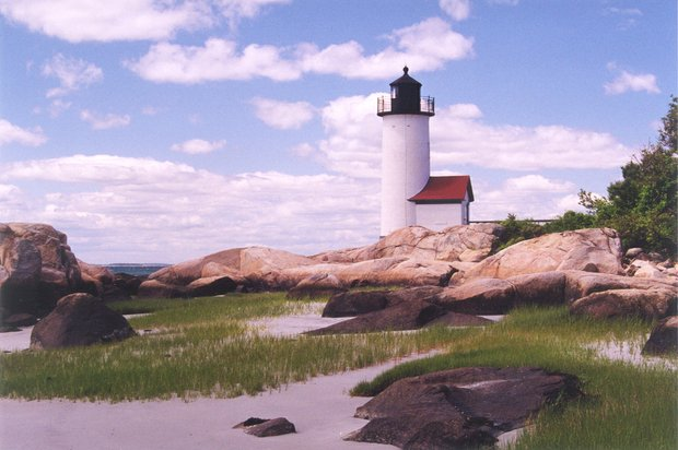 Annisquam Lighthouse in Gloucester MA. Courtesy of MOTT