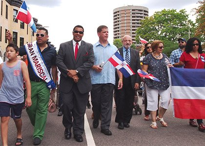 The political clout of the state's Dominican community was on display at the Boston Dominican Parade, as Mayor Martin Walsh, ...
