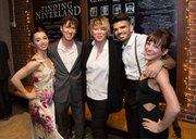Finding Neverland Opening Night Reception at the A.R.T. (L–R) Emma Pfaeffle, Ron Todorowski, Mia Michaels (choreographer), Julius Anthony Rubio, and Jaime Lynn Verazin. Photo credit: Gretjen Helene Photography.