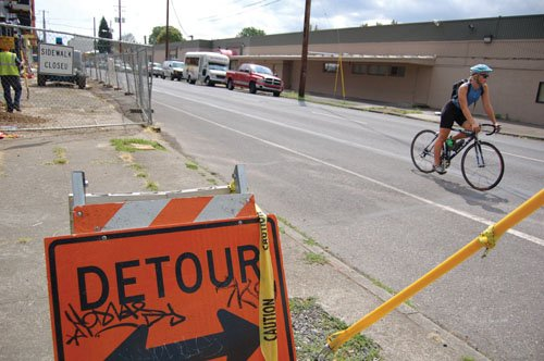 Crews are set to break ground in the coming days on a project that will move the bike lane on ...