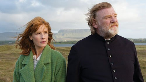 Kelly Reilly and Brendan Gleeson star in 'Calvary.'
