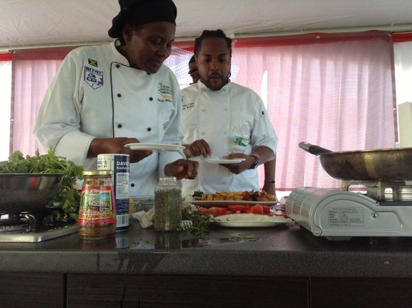 New York City's 4th Annual Grace Jamaican Jerk Festival heated up Roy Wilkins Park in Queens Sunday, July 20. Never ...