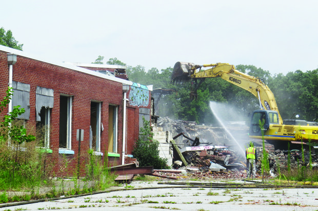 Hooper Alexander Elementary on Memorial Drive is reduced to rubble.