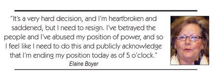 Elaine Boyer, DeKalb's longest serving Commissioner, announced Aug. 25 that she has resigned from office.