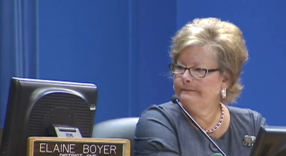 Former DeKalb Commissioner Elaine Boyer – who abruptly resigned Aug. 25, a day before she was to appear in federal ...
