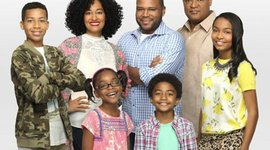 ABC's Black-ish stars Anthony Anderson, Tracee Ellis Ross and Laurence Fishburne.