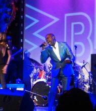 R&B singer Kem performs at SOBs during a private concert hosted by 107.5 FM WBLS.